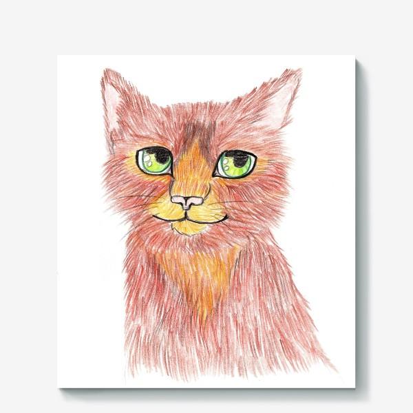 Холст «Огненный кот»