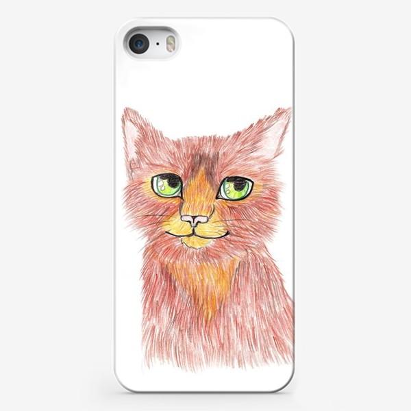 Чехол iPhone «Огненный кот»