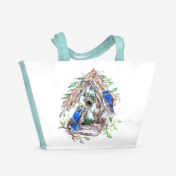 Пляжная сумка «уютный дом»