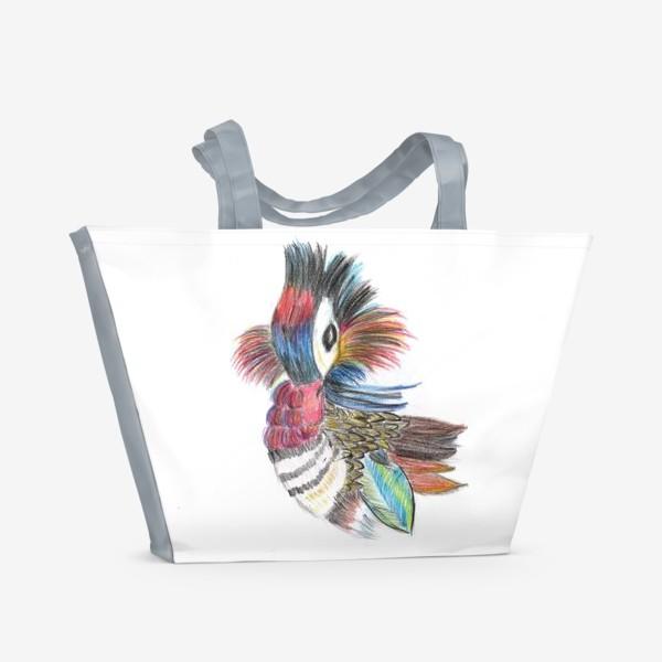 Пляжная сумка «Утка мандаринка»