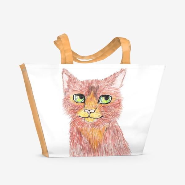 Пляжная сумка «Огненный кот»