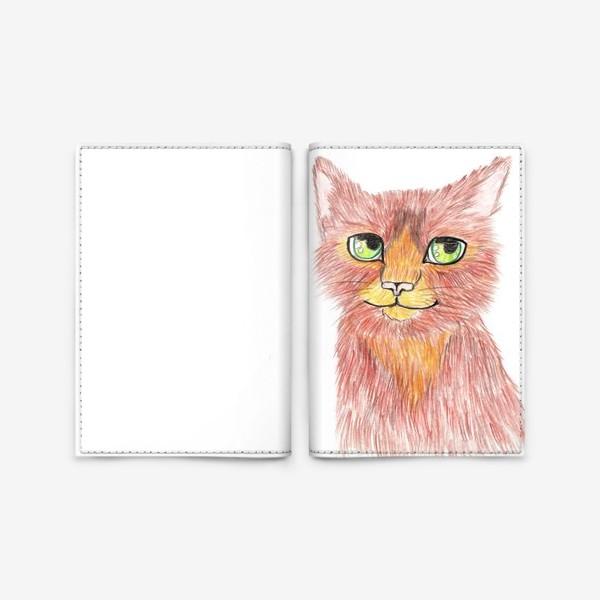 Обложка для паспорта «Огненный кот»