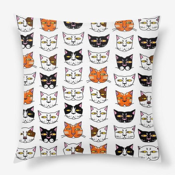 Подушка «Кошачьи мордашки»