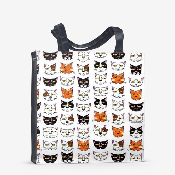 Сумка-шоппер «Кошачьи мордашки»