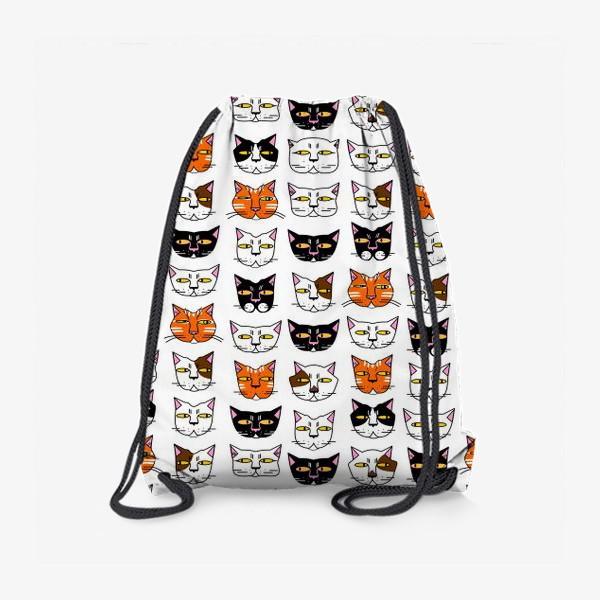 Рюкзак «Кошачьи мордашки»