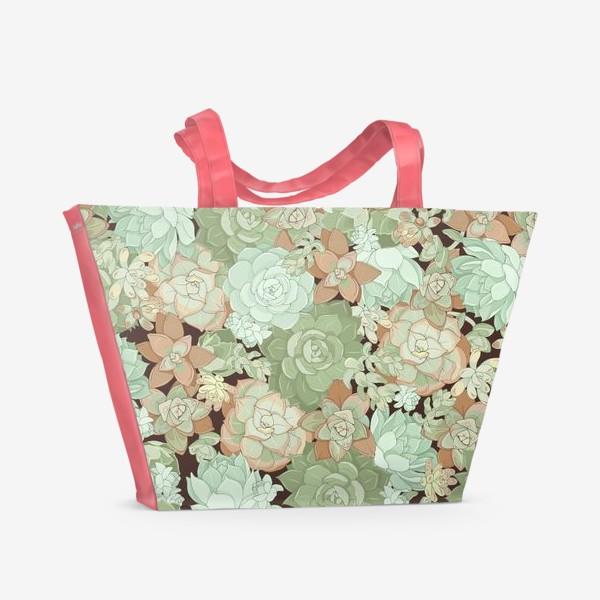 Пляжная сумка «суккуленты»