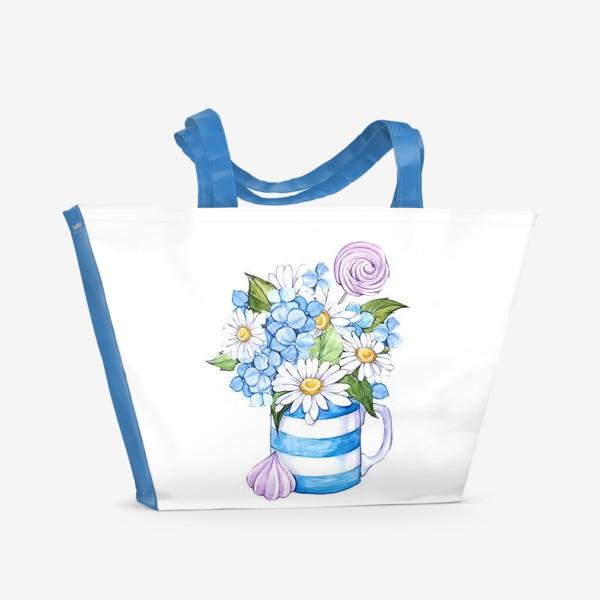 Пляжная сумка «Привет, ромашки!»