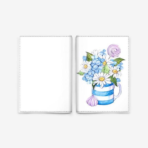 Обложка для паспорта «Привет, ромашки!»