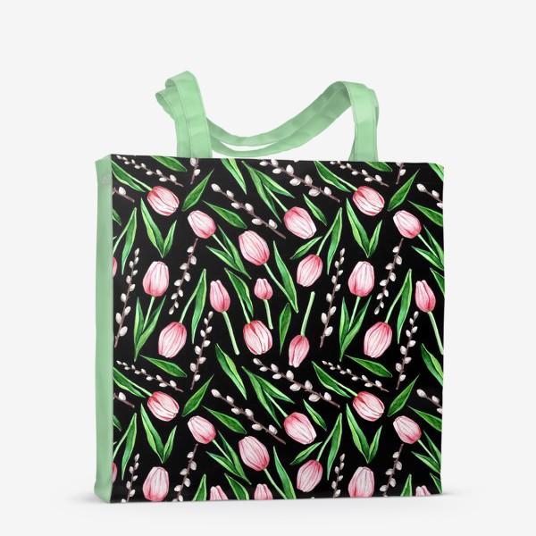 Сумка-шоппер «тюльпаны. весенний паттерн»