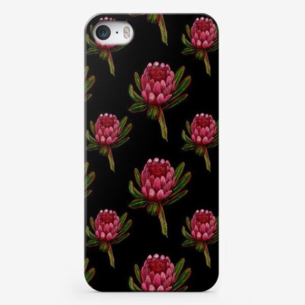 Чехол iPhone «Паттерн протея на черном фоне»