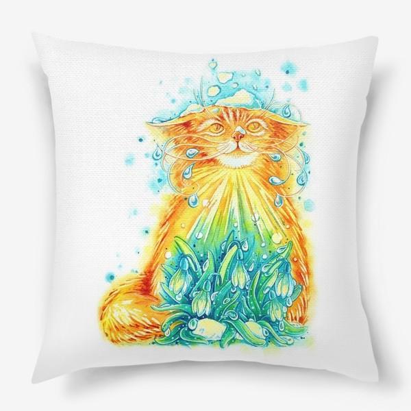 Подушка «Кот. Рыжий, солнечный, весенний.»