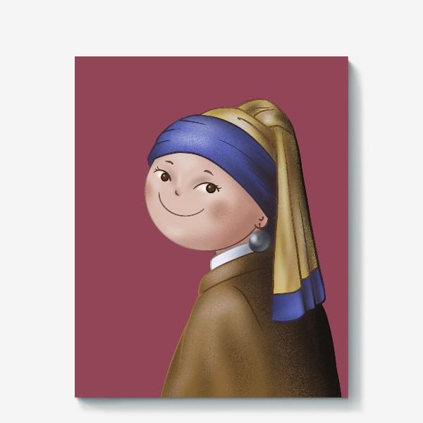 Холст «Девушка с жемчужной сережкой»
