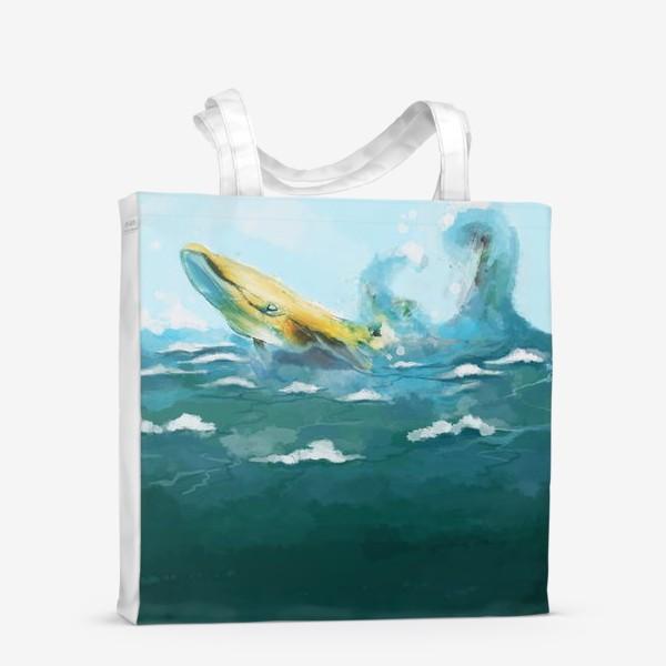 Сумка-шоппер «Кит. Море. Волны. Океан.»