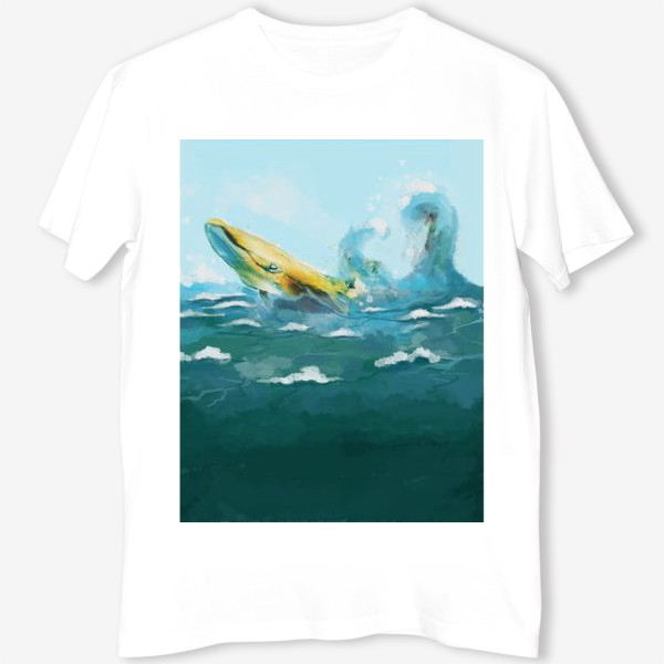 Футболка «Кит. Море. Волны. Океан.»