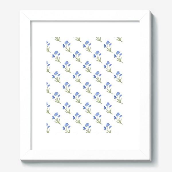 Картина «Орнамент из голубых цветов»
