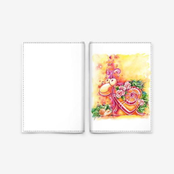 Обложка для паспорта «Улитка на день святого Валентина»