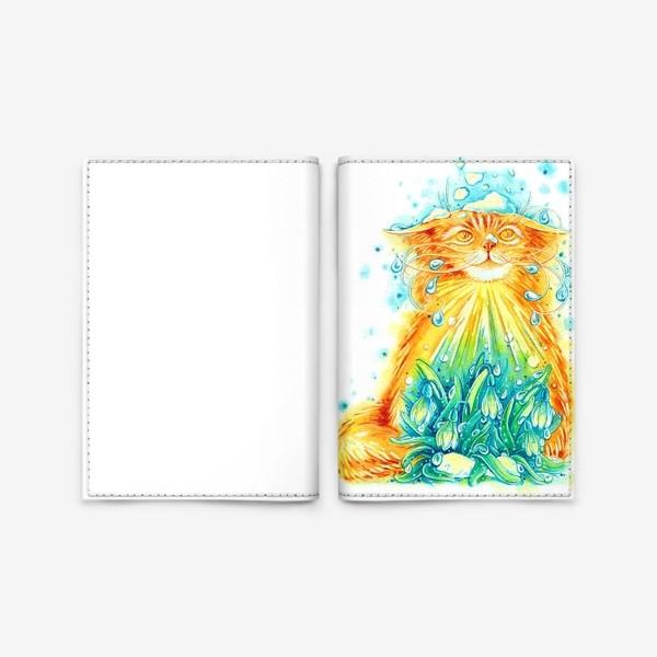 Обложка для паспорта «Кот. Рыжий, солнечный, весенний.»