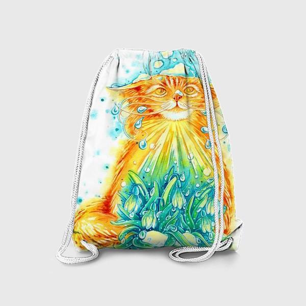 Рюкзак «Кот. Рыжий, солнечный, весенний.»