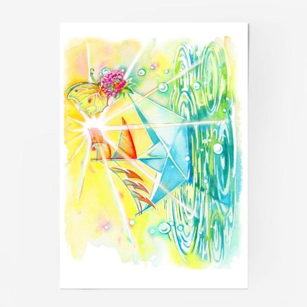 Постер «Бумажный кораблик.»