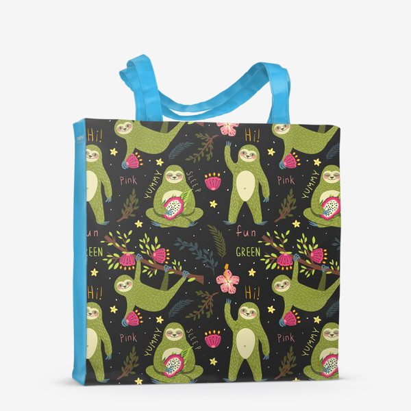 Сумка-шоппер «Зеленые ленивцы»