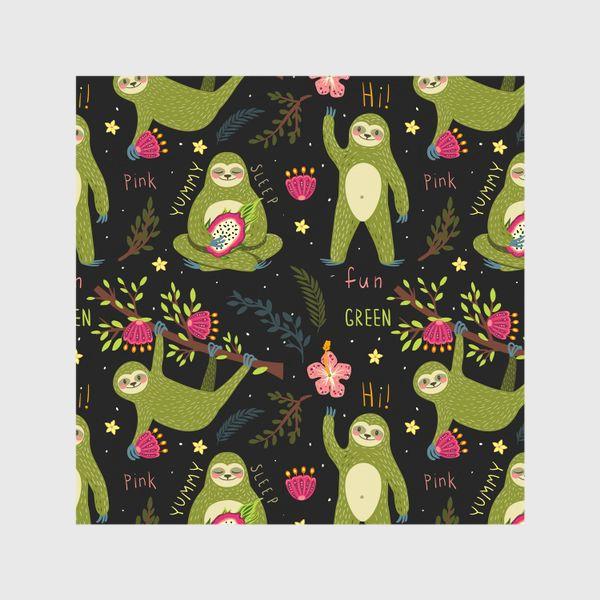 Шторы «Зеленые ленивцы»