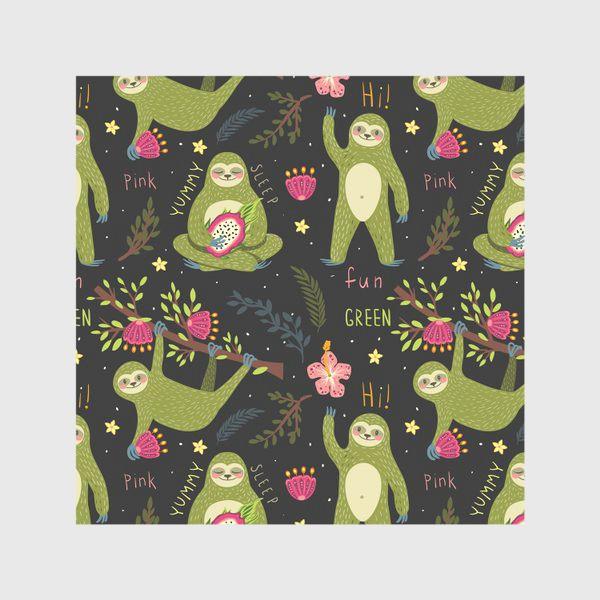 Скатерть «Зеленые ленивцы»
