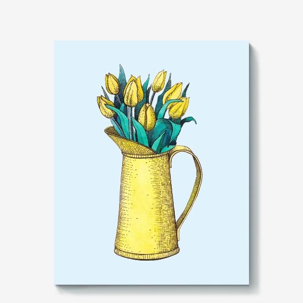 Холст «Букет тюльпанов»
