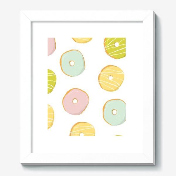 Картина «Аппетитные глазированные пончики. Сладкий паттерн»