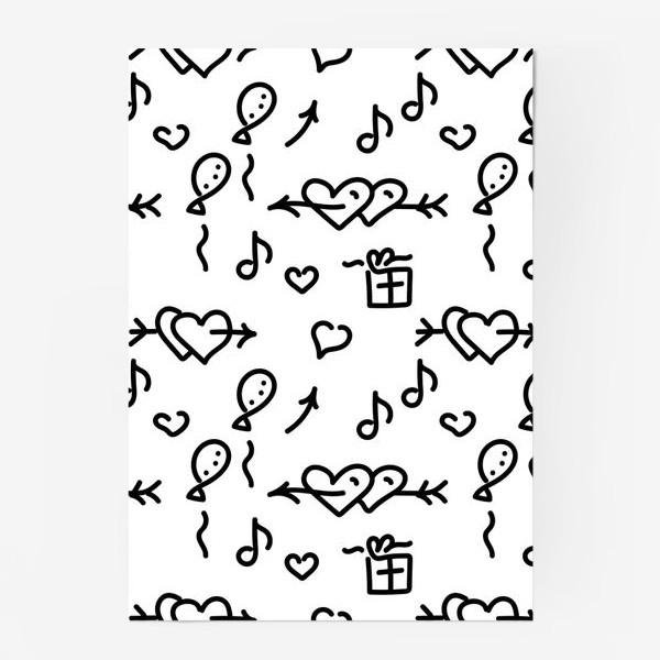 Постер «Сердечки, шарики, подарки,»