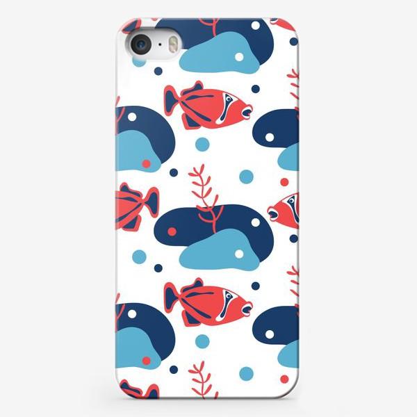 Чехол iPhone «Подводный мир, Рыбы,»