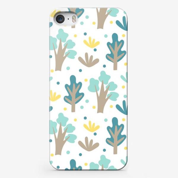Чехол iPhone «Мультяшный лес в Скандинавском стиле»