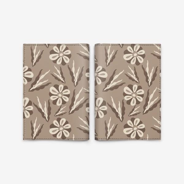 Обложка для паспорта «Простые цветы в пастельных тонах»