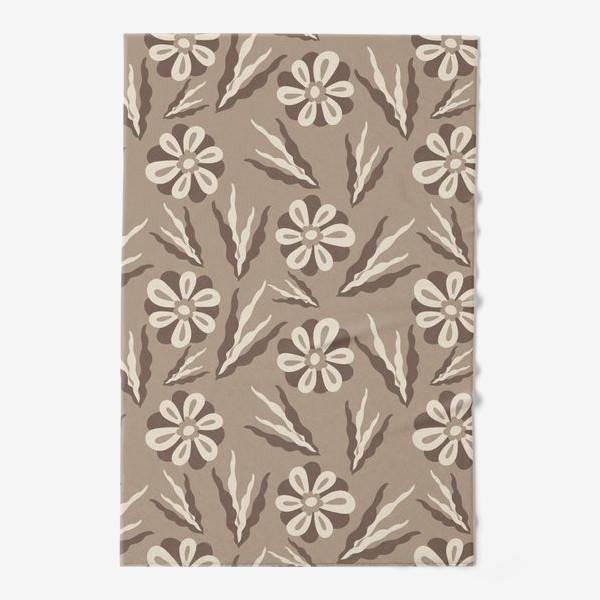 Полотенце «Простые цветы в пастельных тонах»