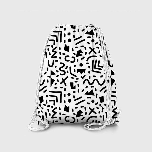 Рюкзак «Абстракция. Черный и белый»