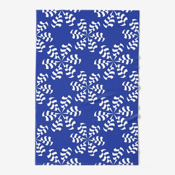 Полотенце «Белые абстрактные  цветы »