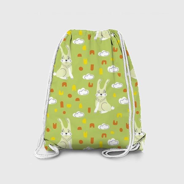 Рюкзак «Зайчики на полянке,»
