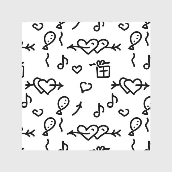 Скатерть «Сердечки, шарики, подарки,»