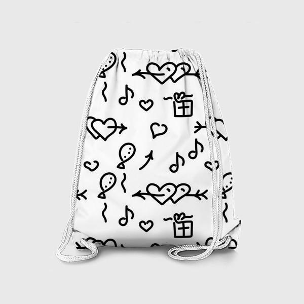Рюкзак «Сердечки, шарики, подарки,»