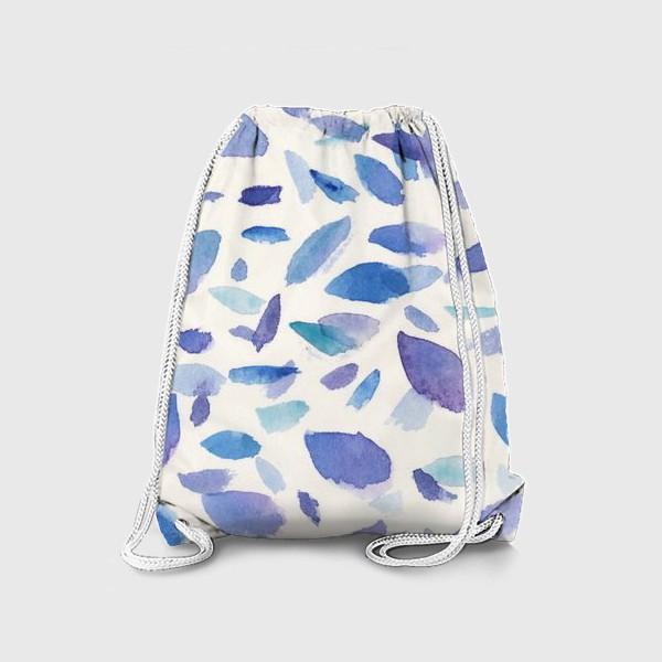 Рюкзак «Акварельные пятна в бирюзово-фиолетовых тонах»