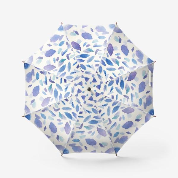 Зонт «Акварельные пятна в бирюзово-фиолетовых тонах»