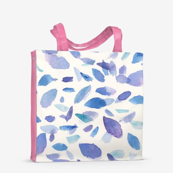 Сумка-шоппер «Акварельные пятна в бирюзово-фиолетовых тонах»