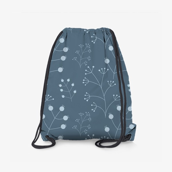Рюкзак «Ягоды - веточки на синем»