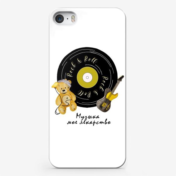 Чехол iPhone «Музыка - мое лекарство»