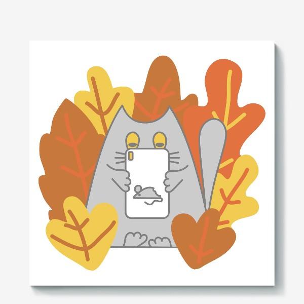 Холст «Кот блоггер»