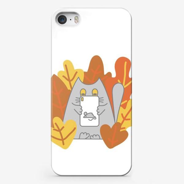 Чехол iPhone «Кот блоггер»