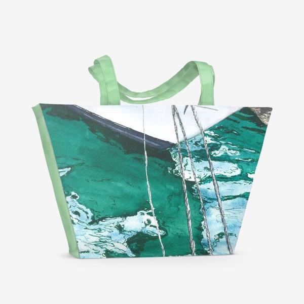 Пляжная сумка «Яхта на море»
