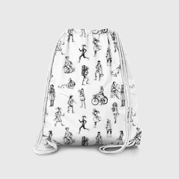 Рюкзак «графический паттерн с девушками»