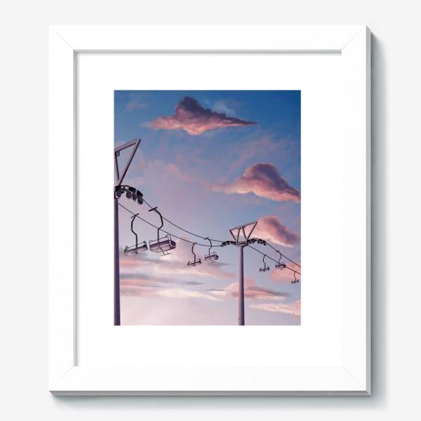 Картина «Канатная дорога, Закат, Небо»