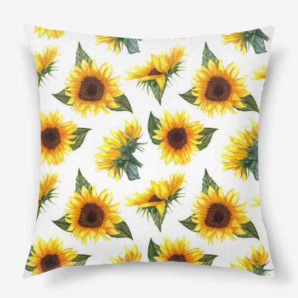 Подушка «Солнечные цветы»