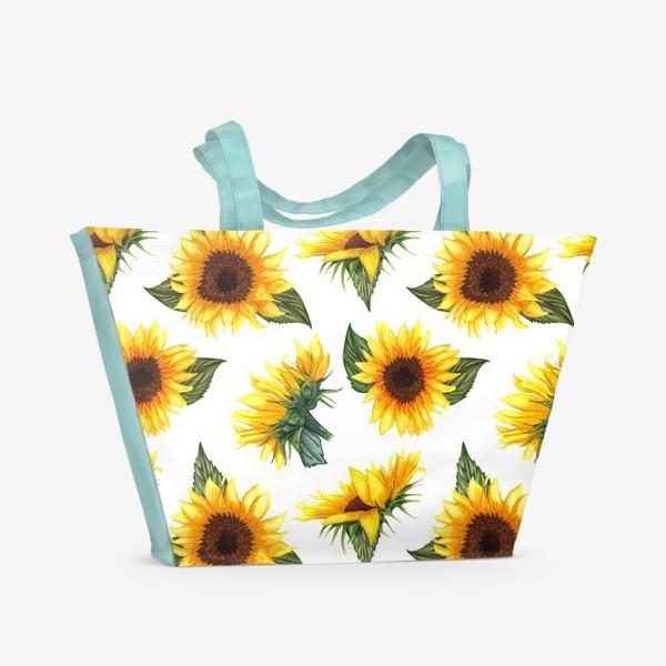 Пляжная сумка «Солнечные цветы»